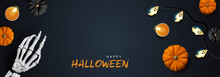 Halloween Banner Background Wi...