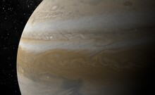 Planet Jupiter With Typical Gr...