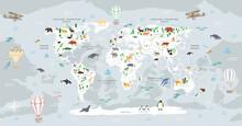 World Map For Children. World...