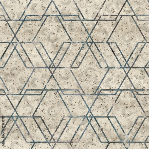 Chic formal grungy geometric shapes texture seamless pattern Wallpaper Mural