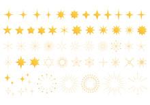 星や光のアイコン素材セット(カラー)
