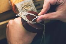 Jeweler Making Handmade Jewelr...