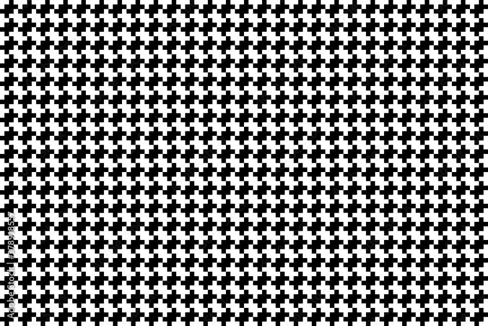 Fototapeta Patrón forma geométrica en blanco y negro tessellation