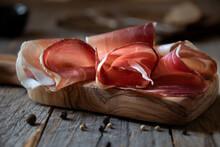 Italian Prosciutto Or Jamon With Rosemary, Raw Ham