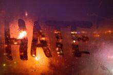 Hate, Negative Emotions. Inscr...