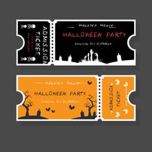 Halloween Tickets Template. Pl...