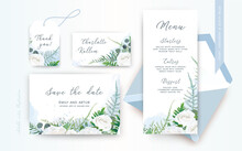 Wedding Menu, Save The Date, P...