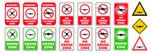 Stop No Drone Zone Signs No Fly Camera Video Drones Sign Stop Halt Allowed Area Icons Vector Privacy Symbol Forbid Air Flights With Drone Prohibited Aircraft Or Quadcopter Flights Restrictive Photo