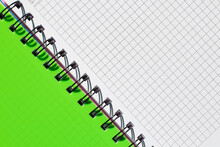 Plaid Notebook With Green Cover Close Up