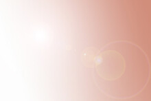 Elegance Of Rose Gold Gradient Background Texture With Lens Flare From The Left Side, Shiny Wall Surface For Presentation, Luxury With High Quality And Copy Space Background.