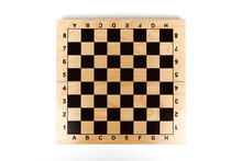 Empty Chessboard On White Back...