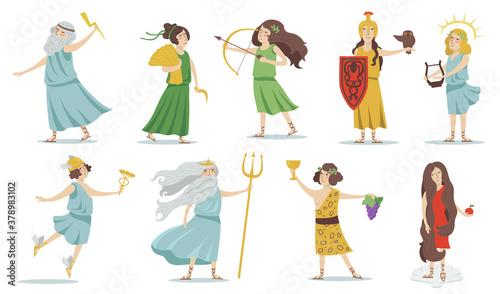 Olympian gods and goddesses Canvas Print