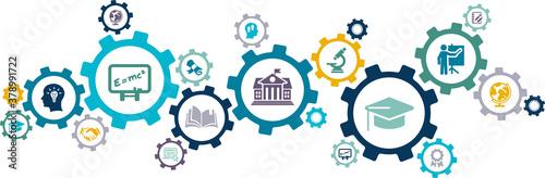 Tela university / college vector illustration