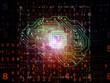 canvas print picture Digital Processor Background