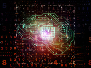 Fototapeta Boks Digital Processor Background