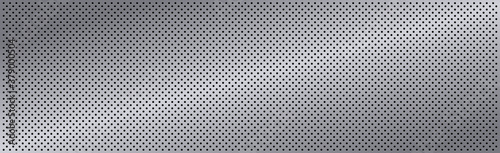 Obraz na plátně Silver perforated iron with white reflections - Vector