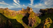 Dunluce Castle Is A Medieval C...