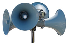 Megaphones Isolated Over White