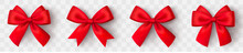 Realistic Red Bow. Christmas S...