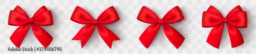 Fotografía Realistic red bow