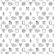 Hanukkah Seamless Pattern Hanu...