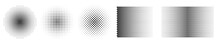 Set Of Black Halftone Dots Bac...