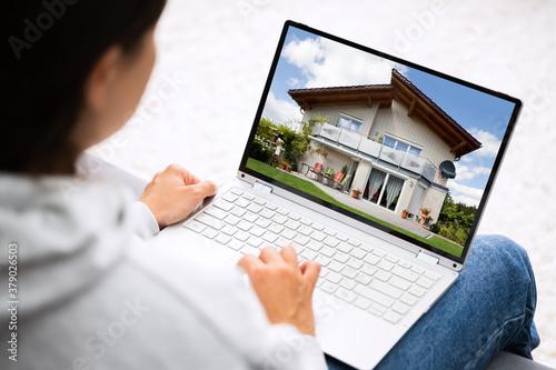 Obraz Online Real Estate Home Search - fototapety do salonu