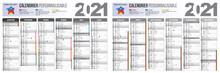 Calendrier 2021 Gris