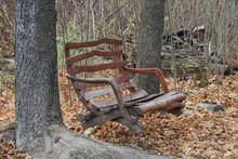 Outdoor Brown Wooden Swing Han...