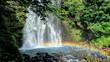 善五郎の滝にかかる虹