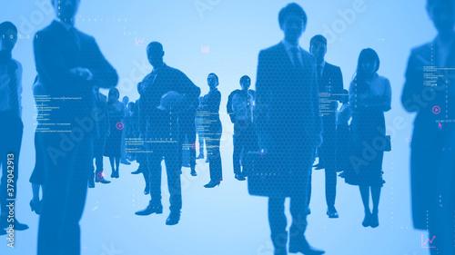 Fototapeta ビジネスとテクノロジー 人材ネットワーク  ループアニメーション obraz