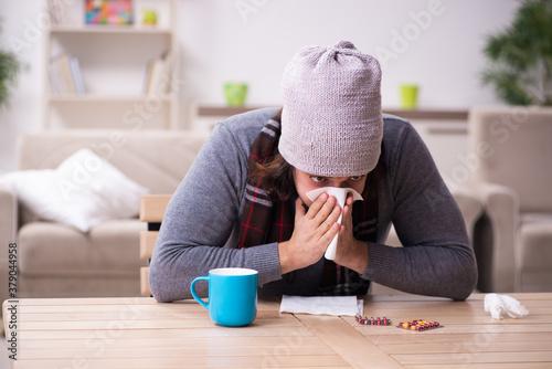 Fotografía Young man suffering at home