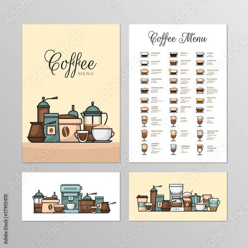 Valokuva Coffee shop menu