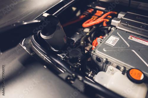 Slika na platnu EV 電気自動車 充電 横