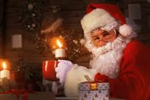 Santa Claus Having A Rest In A...