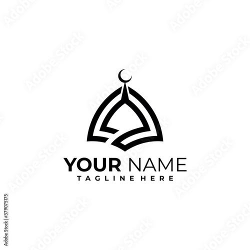 mosque logo icon vector isolated Fototapeta