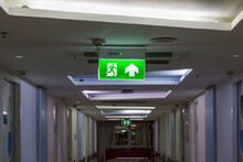 Green Emergency Exit Sign Show...