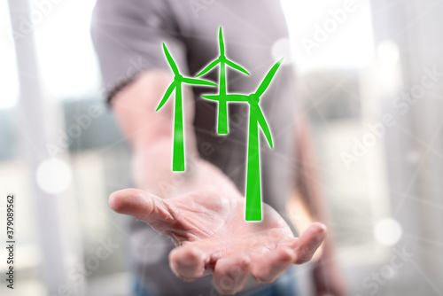 Fototapeta Concept of clean energy obraz