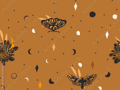Cuadros en Lienzo Hand drawn vector abstract flat stock graphic icon illustration sketch seamless