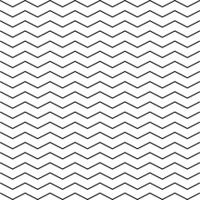 Seamless Zigzag Line Pattern. Black Horizontal Zig Zag Vintage Lines. Horizontally Seamless. Vector Illustration.