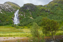Steall Waterfall And The River Nevis In Glen Nevis