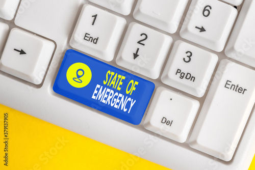 Word writing text State Of Emergency Wallpaper Mural