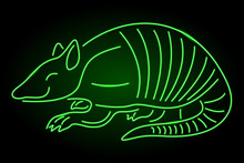 Green Neon Linear Art With Arm...