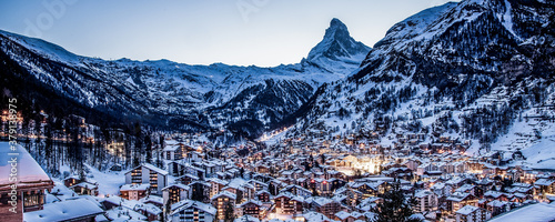 Canvas-taulu amazing view of Matterhorn peak from Zermatt