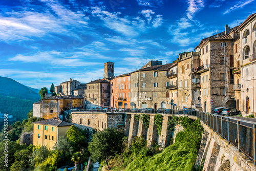 Fotografie, Obraz View of Narni, an ancient hilltown of Umbria, Italy