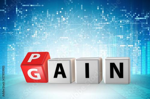 Stampa su Tela No pain no gain concept - 3d rendering