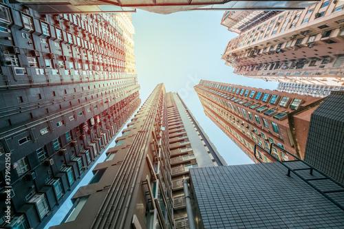 Fotografie, Obraz high rise apartment buildings in Hong Kong