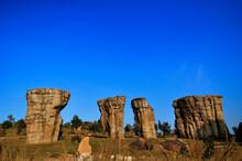 Mor Hin Khao, Chaiyaphum, Thailand, The Best Thai Stonehenge Site, Stone Pillars, Great Landscape