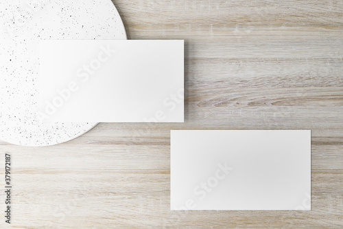 Fototapeta Mockup of horizontal business card. obraz