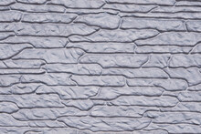 Silver Color Stone Wall Textur...